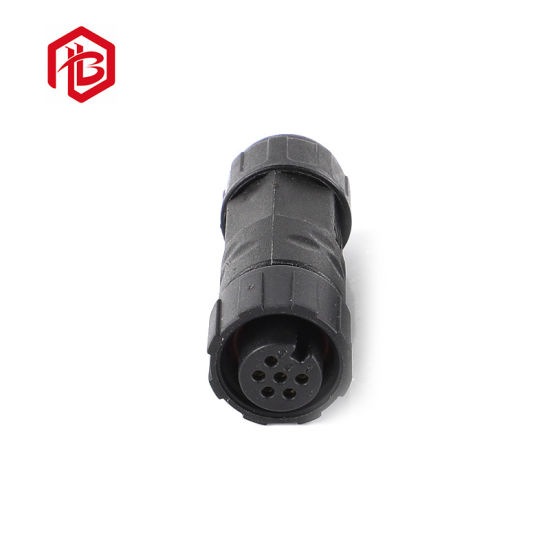 Rubber Line Metal Assembly of LED M12 2 Pin Cable Waterproof Nylon Male and Female Connector
